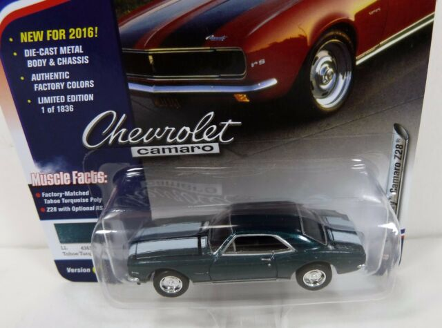Johnny Lightning Muscle Car Usa Release 2 1967 Chevy Camaro Z28