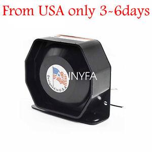Universal 400W G1 Loud Car Warning Alarm Police Fire Siren Horn PA Speaker USAD