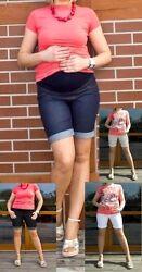 Umstandshose~Umstandsshort~Short~Jeans Optik~blau,weiß,beige,schwarz Gr.34-48
