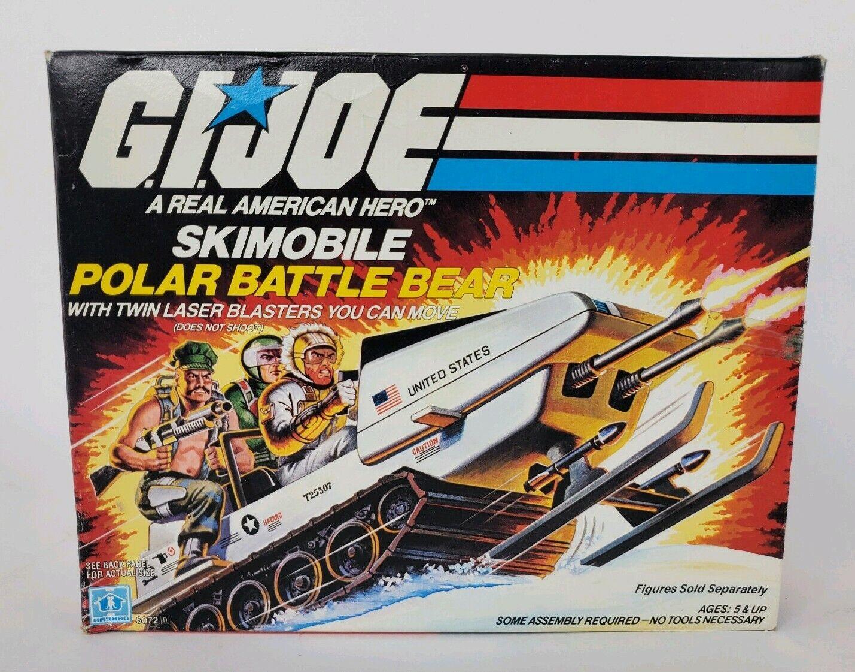 Gi Joe part POLAR BATTLE BEAR 1983 MISSILE ENGINE COVER SLIDE GUN