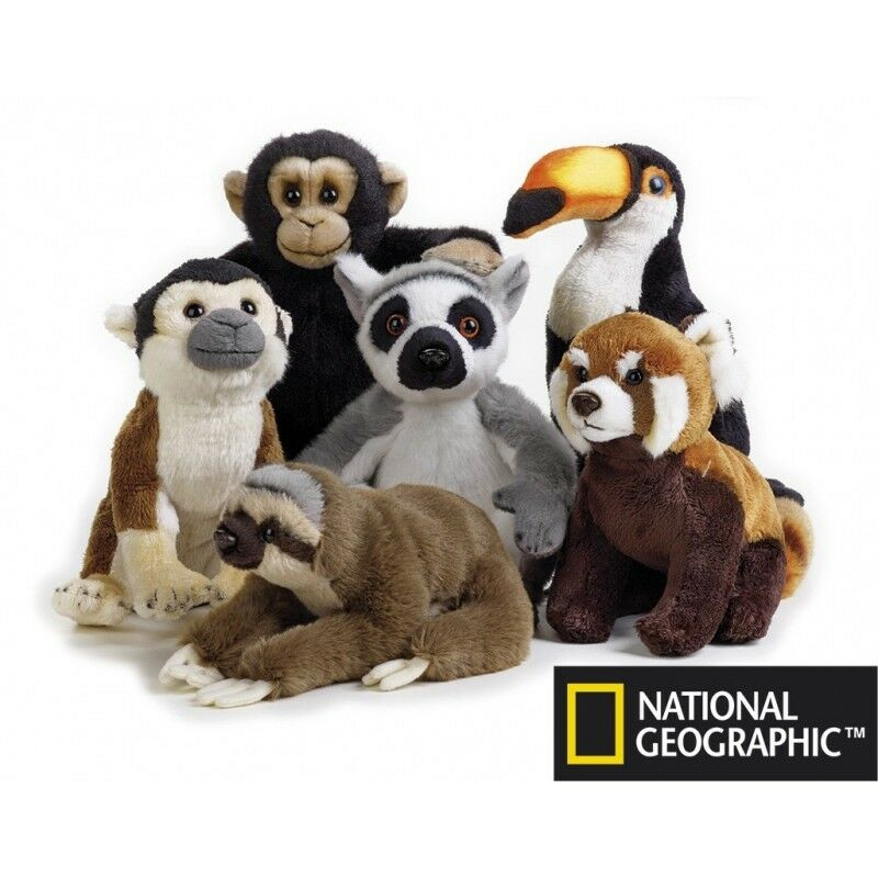 NATIONAL GEOGRAPHIC TOY BABY PLUSH LEMUR 15CM STUFFED ANIMAL TOY GEOGRAPHIC - BNWT bc9bb2