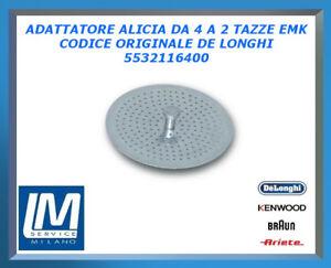 ADATTATORE ALICIA DA 4 A 2 TAZZE EMK 5532116400 DE LONGHI ORIGINALE