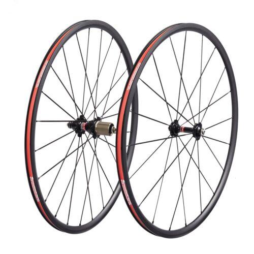 Carbon Wheels with Novatec A271SB F372SB V-brake Hub 20//24 Hole for Road Bicycle
