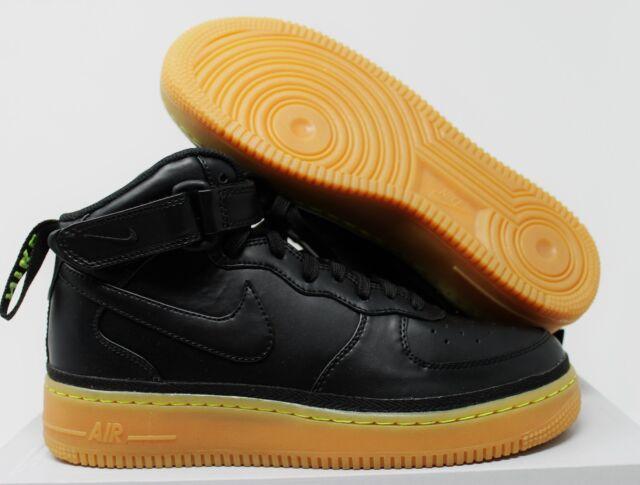 sports shoes 93a8d f845d Nike Air Force 1 Mid Lv8 Black gum-volt GS Grade School Size 7y 820342 004