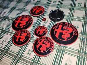 Kit-completo-loghi-rosso-nero-Alfa-Romeo-MiTo-147-156-GT-CONSEGNA-48-ORE