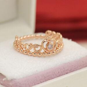 7add7df64 Pandora Rose Gold My Princess Tiara Ring ALL Sizes 180880CZ ...