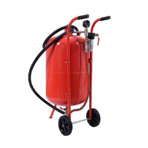 20 Gallon Sandblaster Sand Blaster Portable Air Media Abrasive Blasting Tan #118