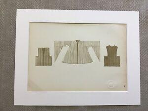 1922-Vintage-Costume-Stampa-Tradizionale-Russo-Abbigliamento-Textiles-Abito