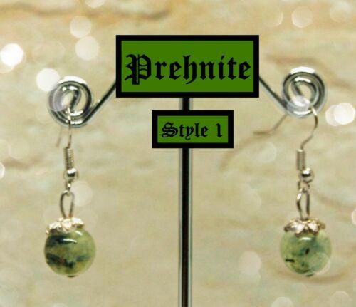 Genuine Prehnite Earrings