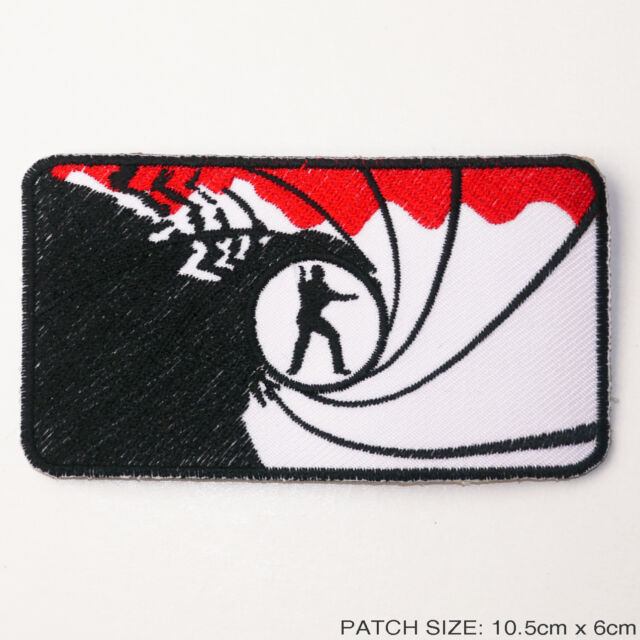 "JAMES BOND 007 - ""Gun Barrel"" Embroidered Movie Patch!"