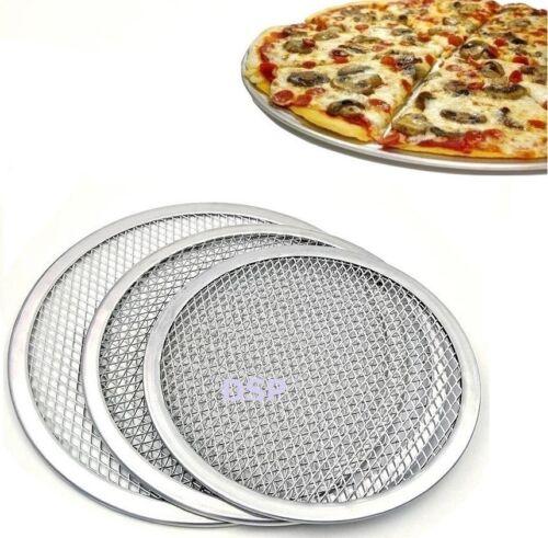 """2 x 12/"""" pollici in alluminio Mash Pizza Vassoio da forno filo a schermo piatto pizza crosta sottile"""