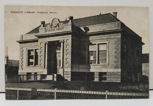 Hibbing-Minnesota-Carnegie-Library-Postcard