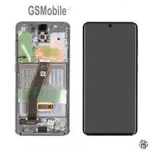Display-Pantalla-LCD-Tactil-Touch-Frame-Grey-Samsung-Galaxy-S20-G980F-ORIGINAL