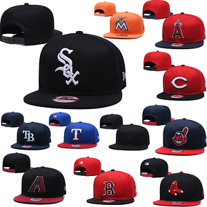Classic Unisex Embroidery MLB Baseball Hat Flat Brim Team Snapback Sports Cap