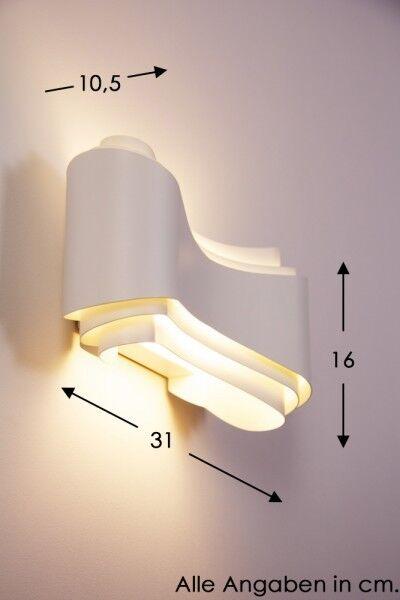 LED Wand Leuchten Design Flur Diel Made in  Wohn Schlaf Zimmer Lampen weiß