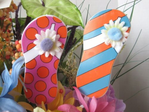 "Floral Picks FLIP FLOPS Card Holders 12/"" Pk//12 NEW!"