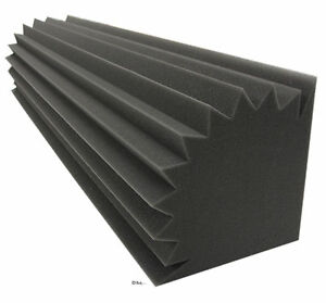 1st akustik d mmung pyramiden schaumstoff tonstudio bass trap absorber profil ebay. Black Bedroom Furniture Sets. Home Design Ideas