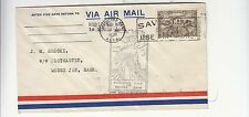 CANADA Air MAIL cover FIRST FLIGHT MEDICINE HAT-MOOSE'JAW-Cancel INDIANS-f471