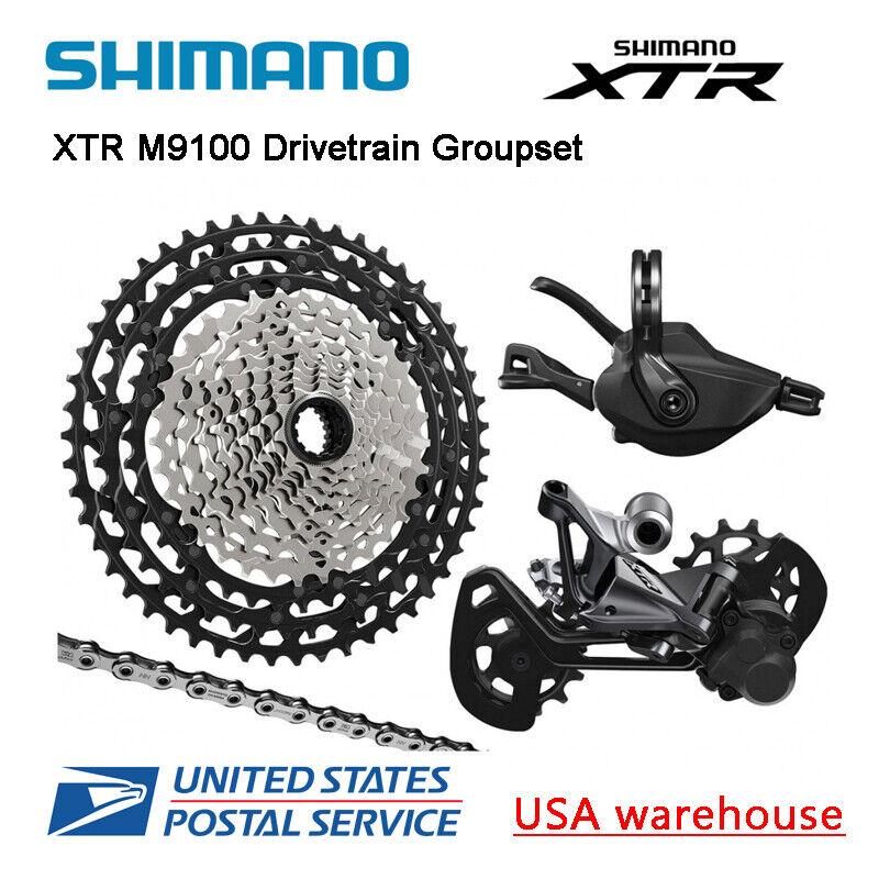New Shimano XTR M9100 12 Speed Drivetrain 4pcs Groupset 45T 51T (OE)