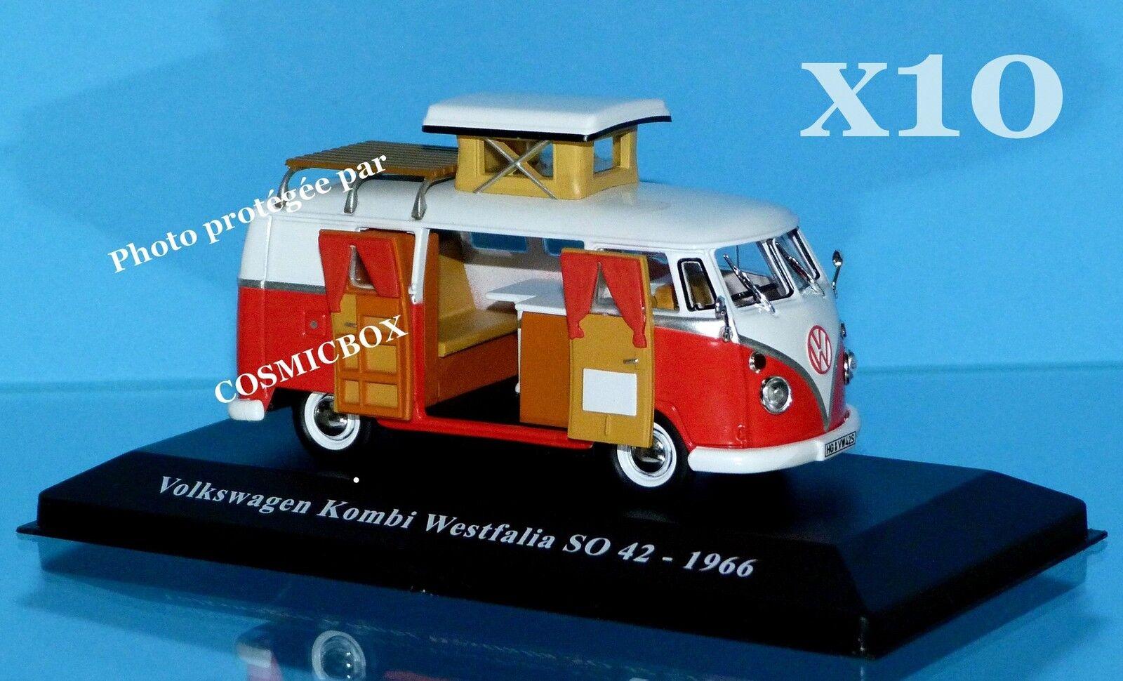 Premio di 10 campeggio-auto VOLKSWAGEN KOMBI WESTFALIA SO 42 1966 kombi camper van