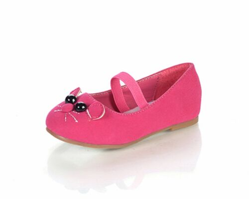 Toddler Pageant Flower Girls Party Girl Cat Face Flats Kitty Shoes Minoro