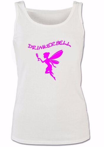 TANK TOP DRINKERBELL TRINKERBELL FEE TRINKERFEE DAMEN LADY GIRLY TOP T-SHIRT