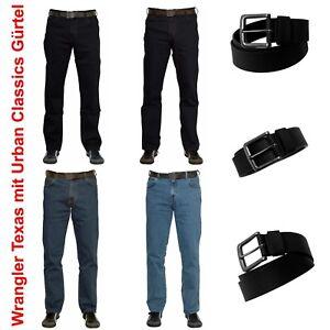 0238f8564b01 Das Bild wird geladen Wrangler-Texas-Stretch-incl-Urban-Classics-Guertel- Jeans-