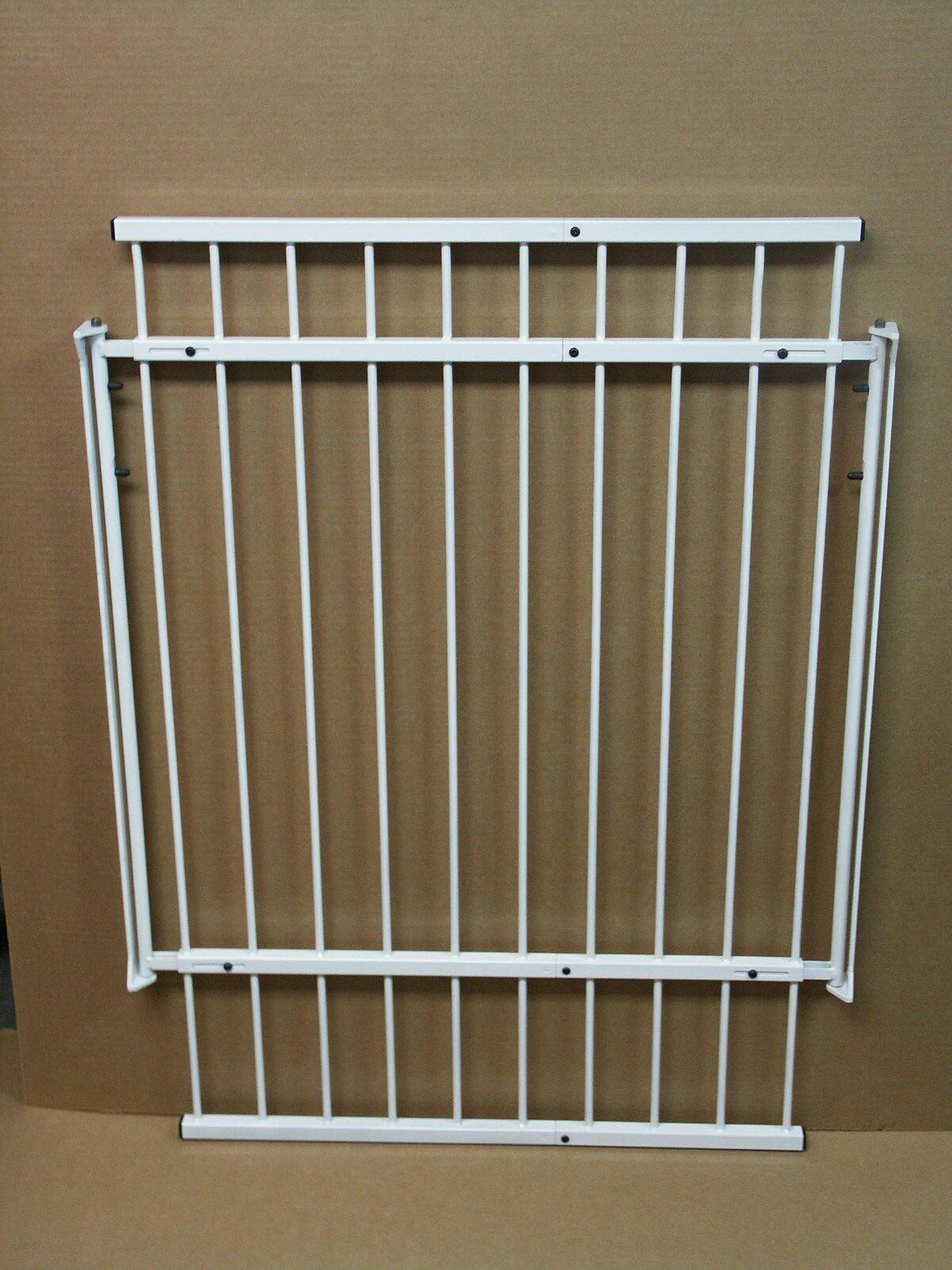 Pet Dog Gate Adjustable Width Modular Welded Steel Construction Good any Decor