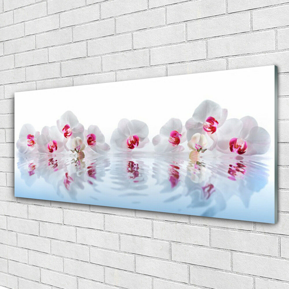 Verre Imprimer Wall Art Image 125x50 Photo Fleurs Art