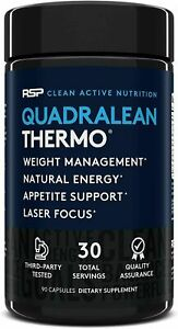RSP QuadraLean Thermo Weight Management. Natural Energy 90 Capsules SEALED 2023