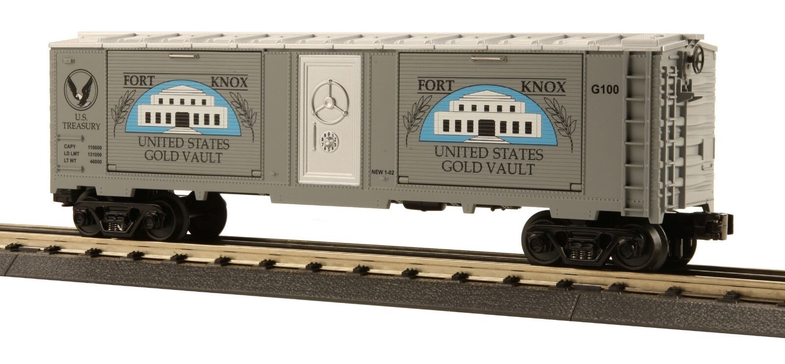 MTH O Gauge Fort Knox 40' Window Box Car  30-74057 -- NEW
