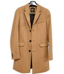 Wool-Mix-Camel-Crombie-Coat-3-4-Length-Winter-Warm-Burton-Tailoring
