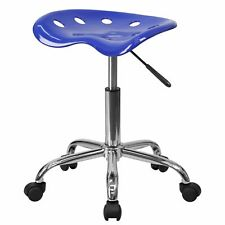 Delacora Ff Lf 214a Blue 17w Metal Swivel Seat Stool With Tractor Seat