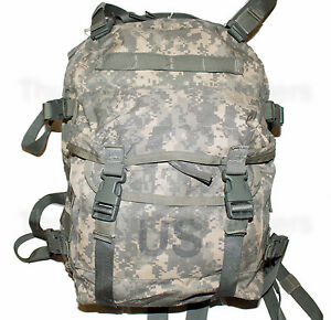 US Army ACU ASSAULT PACK w o Back Stiffener 3 Day MOLLE Backpack Bug ... 9b37cd7518a