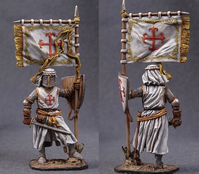 Tin toy soldiers ELITE painted 54 mm  Spanish Knight of the Calatrava Order