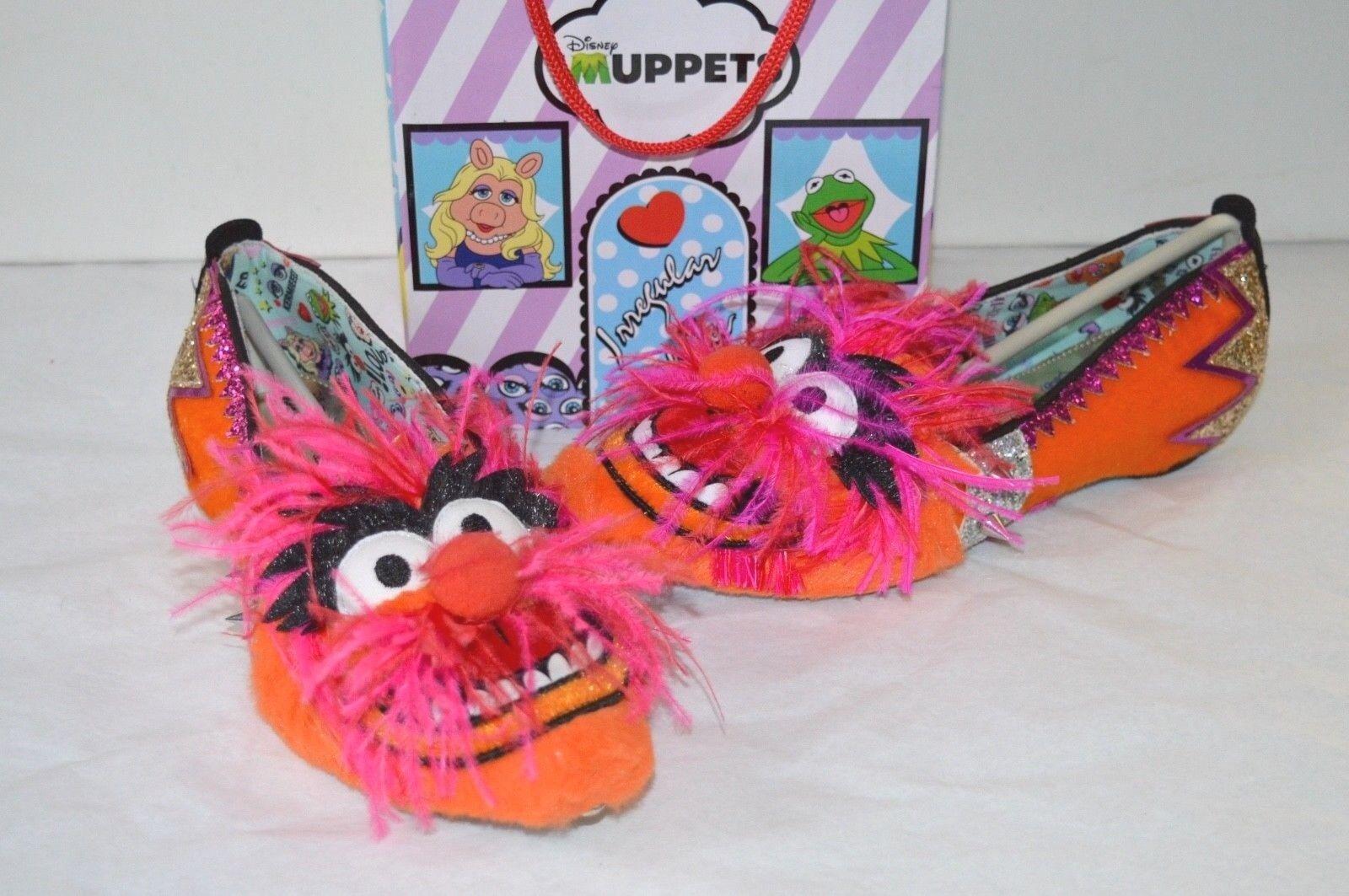 New Irregular Choice The Muppets Party Animal Flats Magenta orange gold 36 5.5-6