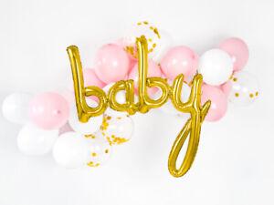 "Hello Baby Rose Gold Script Foil Balloon 46/"" Baby Shower Decor gender reaveal"