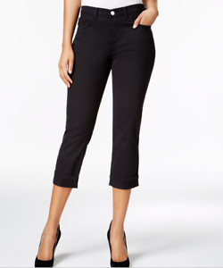 Lee-Platinum-Womens-Capri-Pants-Easy-Fit-Cameron-Cuffed-Cropped-Jeans-Black-56