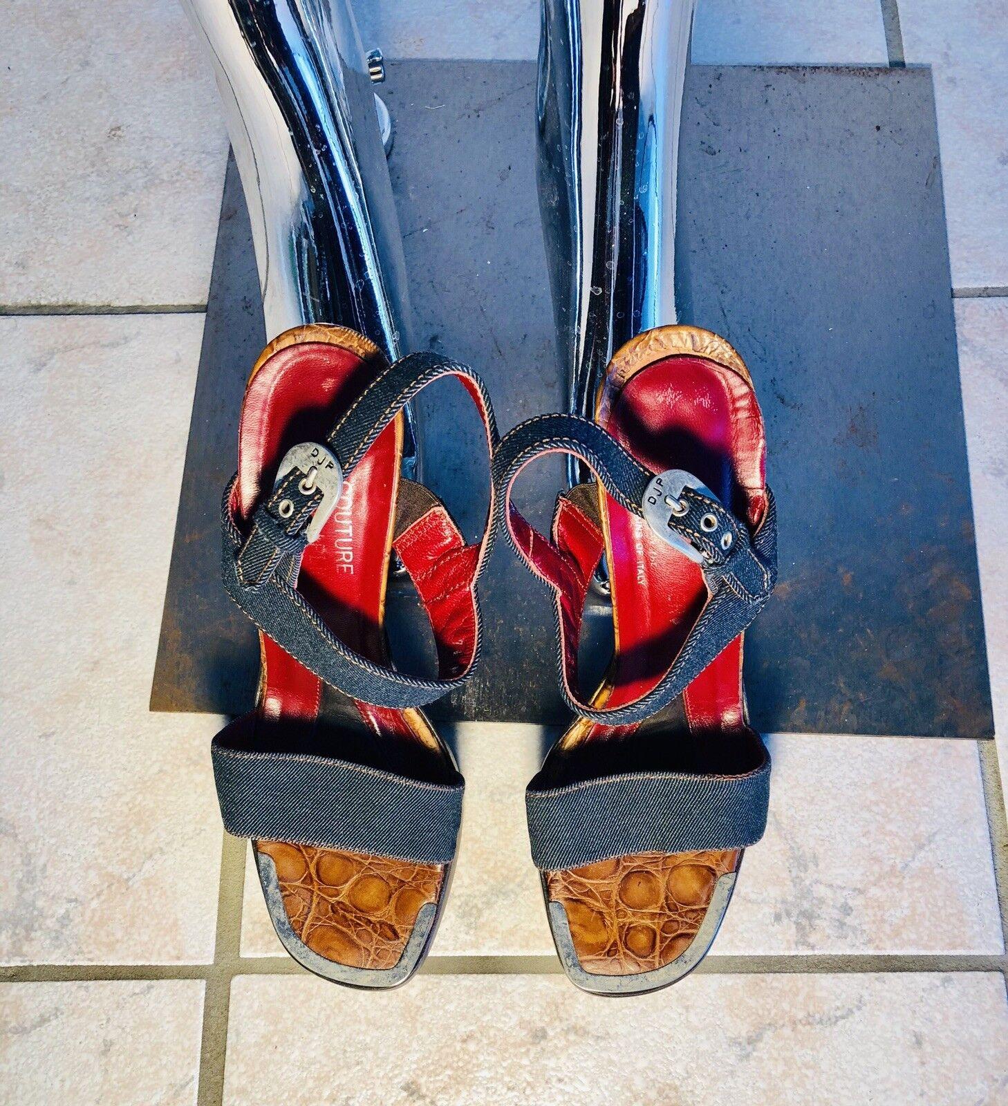 grandi risparmi Donald J Pliner Vintage Denim Platform Heels Heels Heels  qualità di prima classe