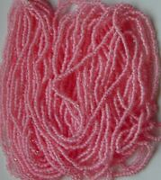 Baby Pink Seed Beads Vintage Color Lined Walco Glass Long20 Hank 11/0 (4384702)