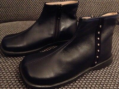 Ital. Golden Pony Kinderschuhe Stiefel Halbstiefel Leder Blau Gr. 26 Schuhe Neu