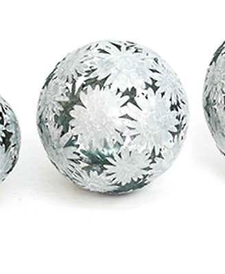 Dekokugel Gerbera Gartenkugel Metall Zink D 14 cm Kugel