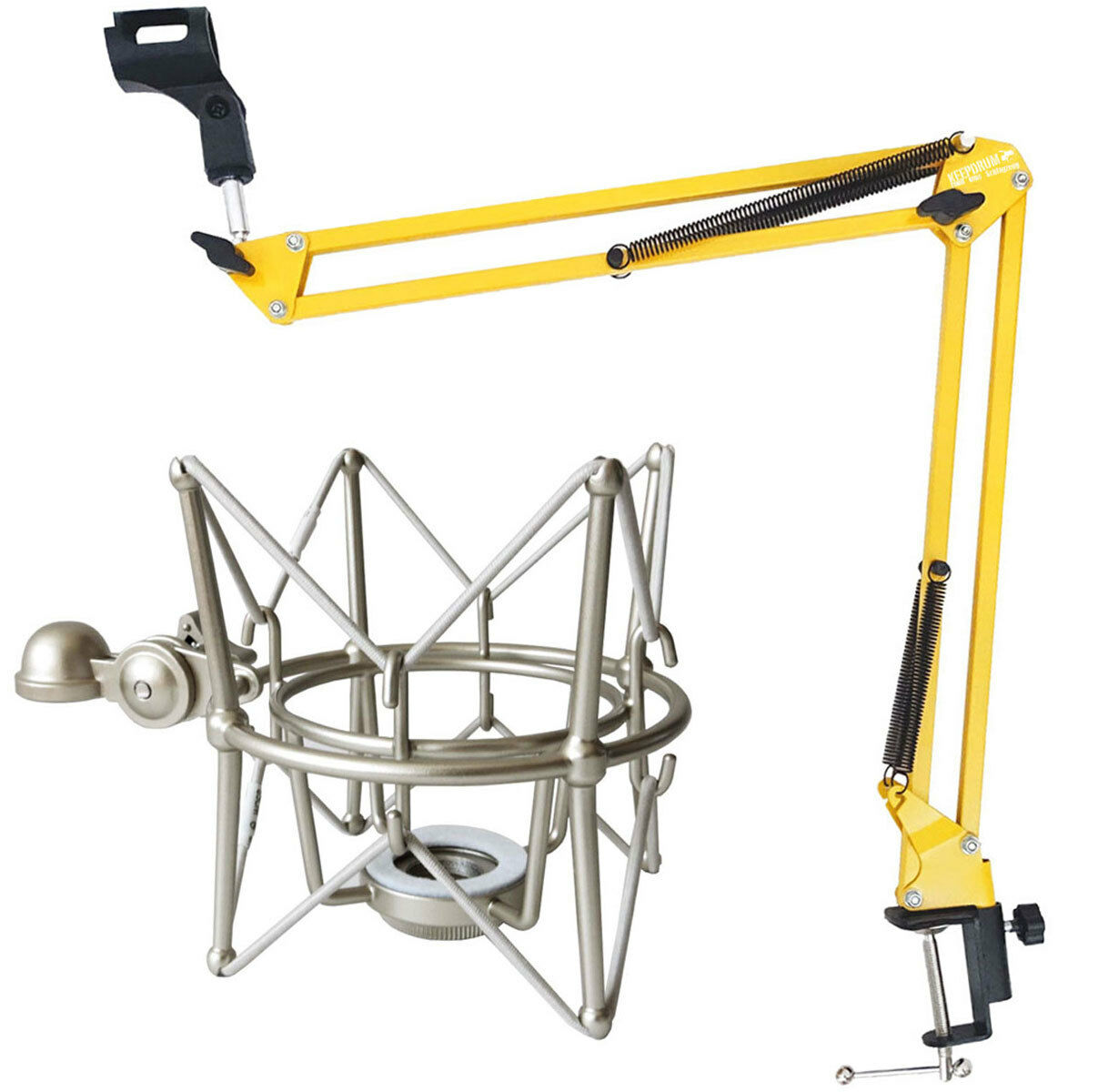 Keep DRUM NB35 YW Yellow Articulated Arm Tripod + MS088SV Microphone spider