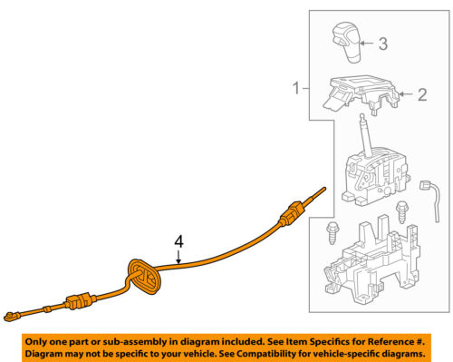 Chevrolet GM OEM-Transmission Gear Shifter Shift Control Cable 23273609