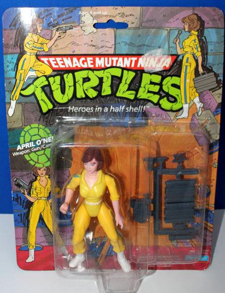 Teenage Mutant Ninja Turtles abril O 'Neal con Estuche Prossoector 1988 Playmates menta en tarjeta