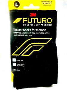 FUTURO-Compression-Trouser-Socks-For-Women-Large-Black
