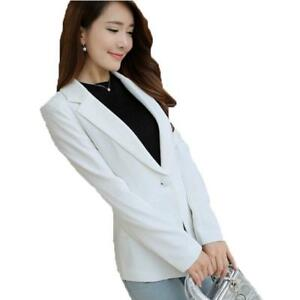 9b60de707a351 Details about Fashion Blazers Women Notched Candy Color Jackets Slim  Feminino Spring Autumn