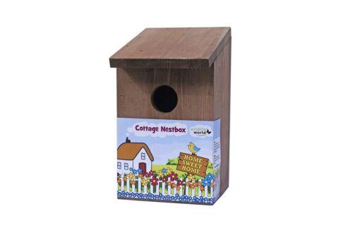 Cottage Bird Nest Box Wildlife World 31mm Hole Wild Bird Nesting Box