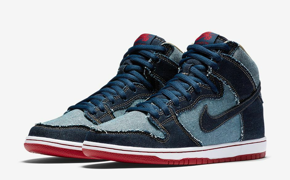 Nike Men's Reese SB Dunk Hi OG Reese Men's Denim High Top Sneakers 881758 441 Size 9 8645ac