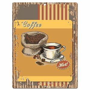 PP0553-Hot-Coffee-Plate-Chic-Sign-Bar-Store-Shop-Cafe-Restaurant-Kitchen-Decor